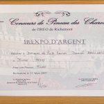 Diplome médaille Puits Faucon